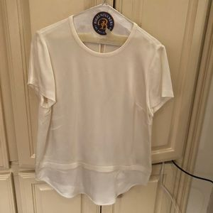 Kate Spade Cream White Short Sleeve Blouse 4